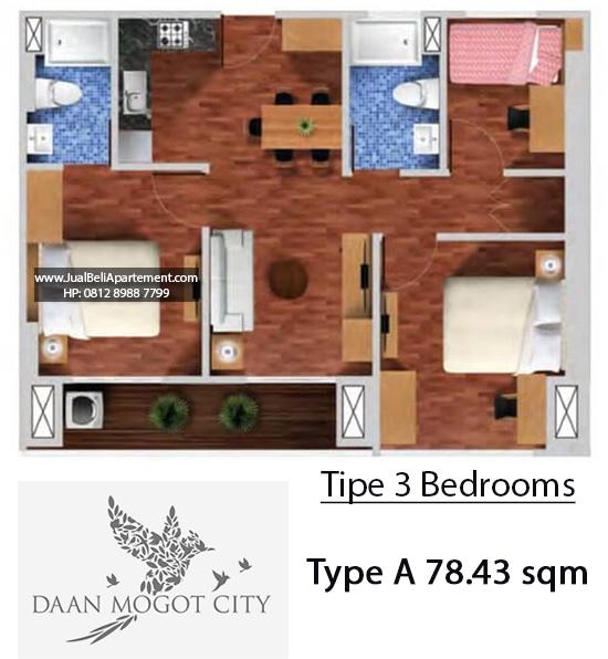 tipe-3-bedroom-daan-mogot-city